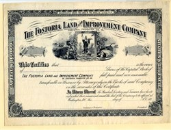 Fostoria Land & Improvement Company -  Virginia 1890's