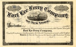 Fort Lee Ferry Company of New York - 1880's
