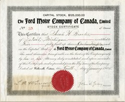 Ford Motor Car Company of Canada - Walkerville, Ontario 1905