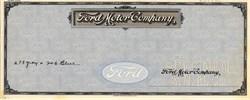 Ford Motor Company Specimen Check