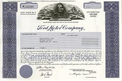 Ford Motor Company (William Clay Ford Jr. as Chairman)  - Delaware
