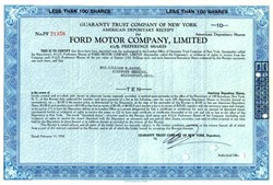 Ford Motor Company, Limited - 1950