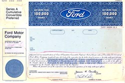 Ford Motor Company Proofs - Delaware 1991