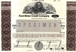 Ford Motor Credit Company 9 3/4% Note  - Delaware 1979