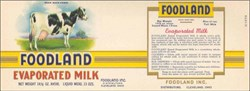 Foodland Evaporated Milk Label