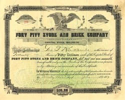 Fort Pitt Stone and Brick Company - Carnegie,  Pennsylvania 1897