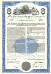 Ford Motor Car Company - $1000 Bond with Early Car Vignette