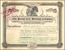 Forest City Railway Company 1908 - Cleveland, Ohio