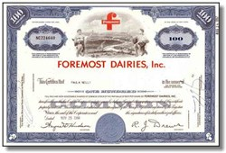 Foremost Dairies Inc. ( Became Foremost-McKesson )