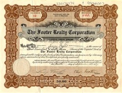 Footer Realty Corporation - Maryland 1917