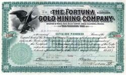Fortuna Gold Mining Company 1899 - Agua Dulce Canyon, Lower California