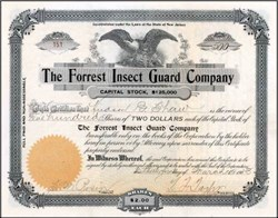 Forrest Insect Gaurd Company 1903 - New Jersey
