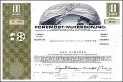 Foremost - McKesson, Inc. ( Now McKesson Corporation )
