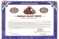 Forman Realty Trust - Illinois 1930