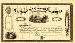 Fort Street and Elmwood Railway Co. - Detroit, Michigan 1860's