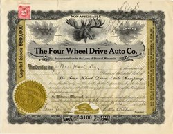 Four Wheel Drive Auto Co. (First US four wheel drive vehicle)  -  Clintonville , Wisconsin 1919