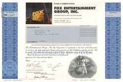 Fox Entertainment Group, Inc with Rupert Murdoch as Chairman (Home of Meygn Kelly, Bill O'Reilly, Sean Hannity, Bret Baier, Brit Hume)