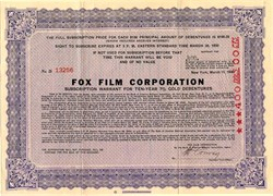 Fox Film Corporation - New York 1930