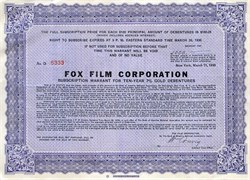 Fox Film Corporation - New York 1930