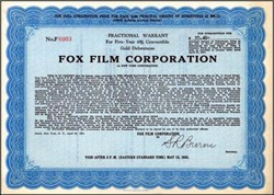 Fox Film Corporation (Became National Theatres)  1931