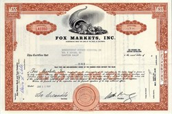 Fox Markets, Inc. - California 1965