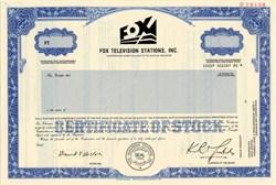 Fox Television Stations, Inc. (K. Rupert Murdoch ) - Delaware 1986