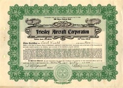 Friesley Aircraft Corporation - Delaware 1920