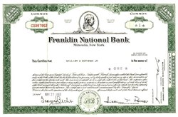 Franklin Square National Bank - Long Island, New York - Major Bank Failure in 1974