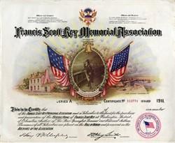 Francis Scott Key Memorial Association - Washington DC 1911