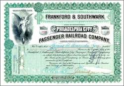 Frankford & Southwark Philadelphia City Passenger Railroad Company