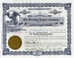 Franklin Tractor Company 1920