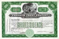 Franklin Trust Company - Franklin Flying Kite Discovering Electricity - October 1929 (Market Crash Month)