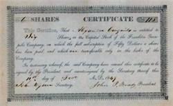 Franklin Turn Pike Company 1849 - Tenessee