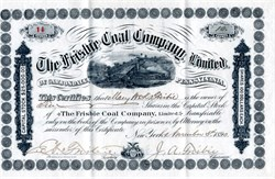 Frisbie Coal Company, Limited - Pennsylvania 1890