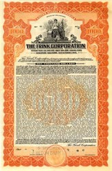 Frink Corporation Sinking Fund Gold Bond - Delaware 1927