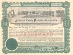 Frederick County Products Incorporated 1925