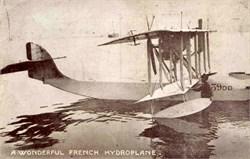 French Hydroplane Photo Postcard