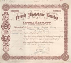 French Phototone Limited 1929