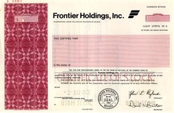 Frontier Holdings, Inc. (Frontier Airlines) - Nevada 1983
