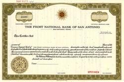 Frost National Bank of San Antonio - Texas