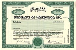 Frederick's of Hollywood, Inc. - Specimen - Delaware 1989