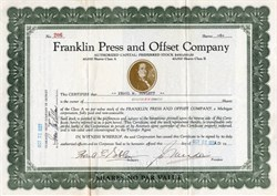 Franklin Press and Offset Company - Detroit, Michigan 1928