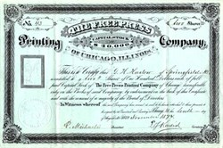 Free Press Printing Company of Chicago, Illinois - 1874