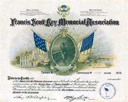 Francis Scott Key Memorial Association-Washington DC - 1909