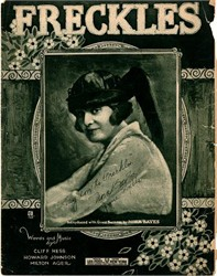 Freckles Sheet Music - New York 1919