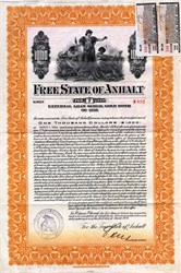 Free State of Anhalt $1000 Gold Bond - Germany 1926