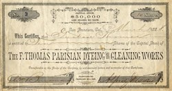 F. Thomas Parisian Dyeing and Cleaning Works - San Francisco, California 1888