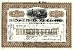 Furnace Creek Oxide Copper Company  - Mine office: Greenwater, Inyo Co., Cal. - Territory of Arizona 1906
