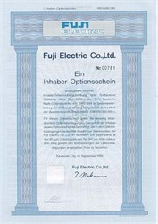 Fuji Electric Certificate in German