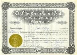 Fulton County National Bank Stock 1930